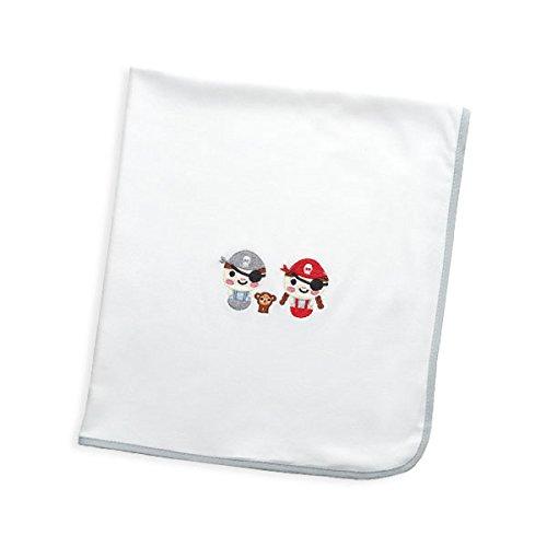 Arrrullo para bebé punto de algodón (80x80 cm) PIRATA Gris