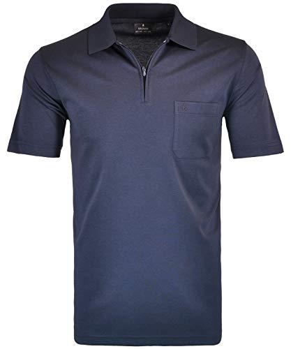 RAGMAN Herren RAGMAN Kurzarm Poloshirt, Marine, S - Easy Care L/s Shirt