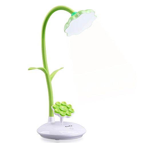 OCOOPA dimmbare LED Schreibtischlampe für Kinder, Nachttischlampe mit Touchsensor, per USB wiederaufladbare flexible Leselampe, Grün