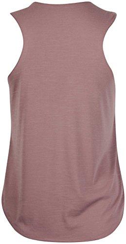 Damen Stretch T-Shirt - Bedruckt mit Diamant Dope Slogan - Runder Halsausschnitt - Ärmellose T-Shirt - Weste Top - Plusgröße Mokka