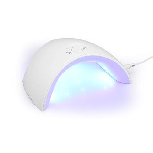 Anself 36W UV Lampe Gelnägel Nageltrockner Tragbarer UV Nagellampe LED für Gel Nagellack 30s/60s/90s (White) - White Builder Gel