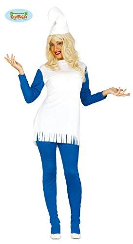 blaue Zwergin - Kostüm für Damen Gr. M/L, (Für Schlumpfine Kostüm Damen)