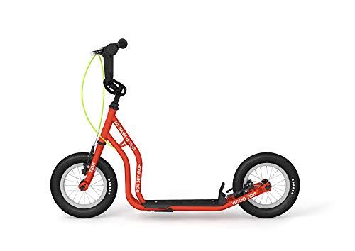 Yedoo Kinder Tretroller Tidit New - für Kinder ab 110 cm (5 - 10 Jahre) - für Mädchen und Jungen Höhenverstellbar in red - Lernlaufrad mit Reflektoren