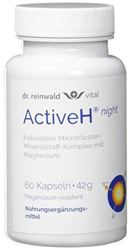 dr.reinwald Active H night - Nahrungsergänzungsmittel mit beruhigendem Magnesium & Selen für die Nacht - Für die Zell-Energie & gegen oxidativen Stress - 60 Kapseln