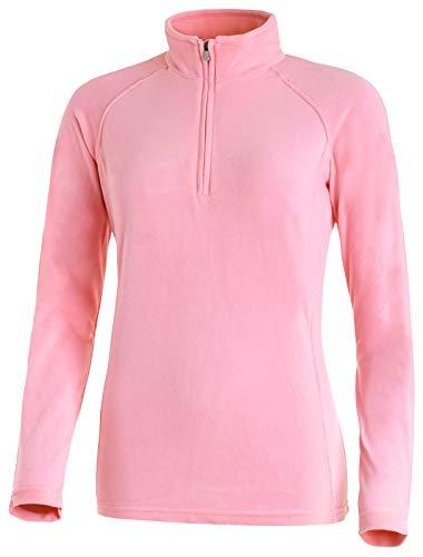 Medico Damen Ski Shirt, 46, prism pink, Pink, 100% Polyester, Fleece, langarm, Reißverschluss - Prism Pink Bekleidung