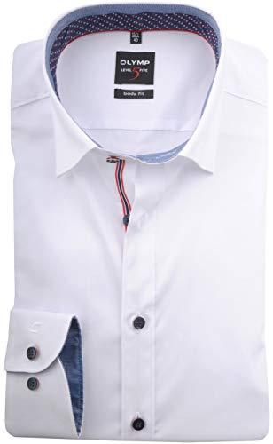 OLYMP Level Five Body fit Hemd Langarm mit Besatz weiß Größe 43