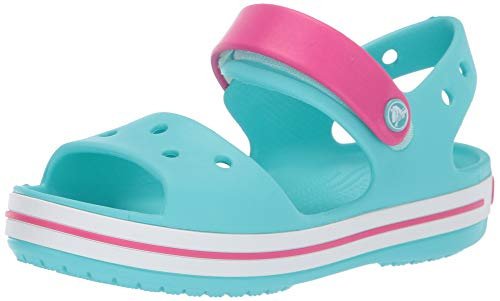 Crocs Crocband Sandal Kids, Unisex - Kinder Sandalen, Blau (Pool/Candy Pink), 28/29 EU