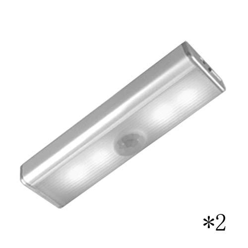 LED-Schrankbeleuchtung, Lichtsteuerung Menschlicher Körper Induktion Kleiderschrank Schrank Weinkühler USB Wird Geladen (Color : Warm light, Size : Small*2)