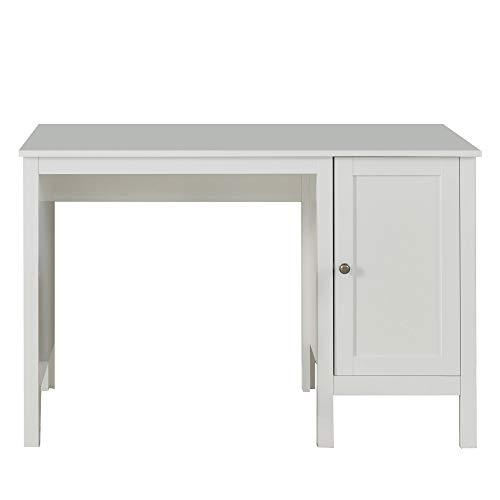 trendteam Jugendzimmer Kinderzimmer junge Erwachsene Schreibtisch Tisch Ole, 115 x 75 x 50 cm in Weiß Dekor mit viel Stauraum