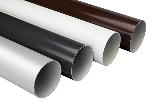 2 Meter |Fallrohr | PVC | Regenrinnen | stoßfest | 75mm |RainWay90 | braun