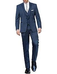 195add33adbc Suit Me Blau Herren 3 Teilig Abschlussball Hochzeiten Anzug Tuxedos Sakkos  Weste Hose