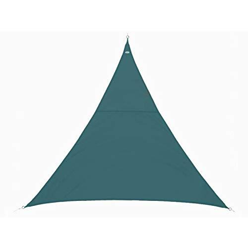 Vela parasole triangolare 2x2x2 m in tessuto impermeabile - colore: blu petrolio