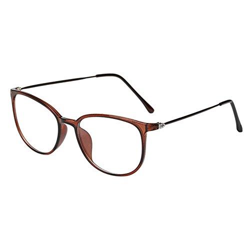Haodasi Koreanisch Ultraleicht TR90 Kurzsichtigkeit Myopia Brille Kurzsicht Voll Rahmen Kurzsichtig Brille -1.0 -2.0 -3.0 -4.0 -5.0 -5.5 -6.0 Tawny (Diese sind nicht Lesen Brille)