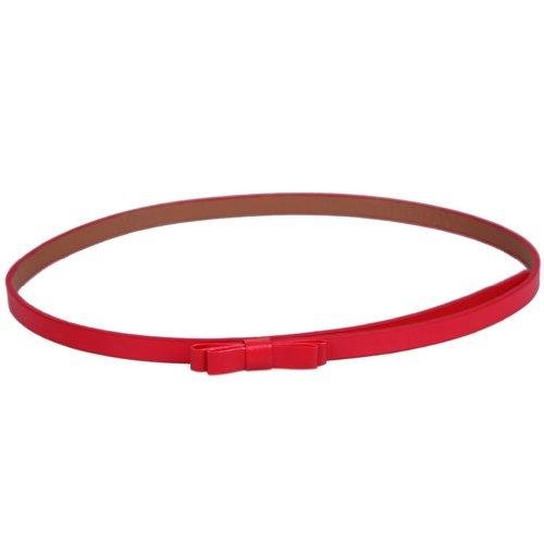 la-vogue-1-stuck-damen-ledergurtel-gurtel-belt-schmal-schmetterling-lang-104cmfarbe-rot