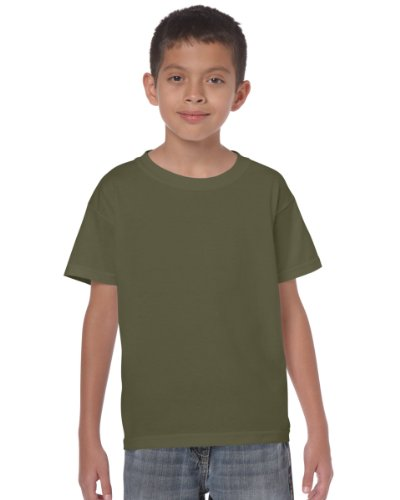 Gildan Heavy T-Shirt für Kinder Grün - Military Green