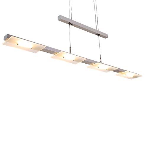 Briloner Leuchten - LED Pendelleuchte, Esstischlampe, Wohnzimmerleuchte, LED 4x4.5W, je 400 Lumen, höhenverstellbar, 854x1.200mm (LxBxH)