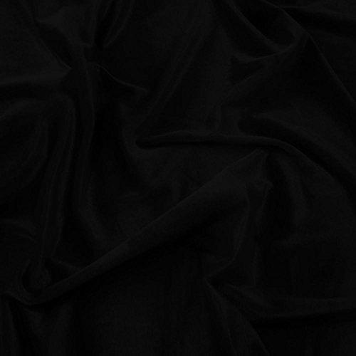 Schwarz Samt Super Weich Velours Stoff, Kleid, Tanz, Kostüm, Abend-150cm breit (Pro Meter) (Pro Tanz Kostüm)