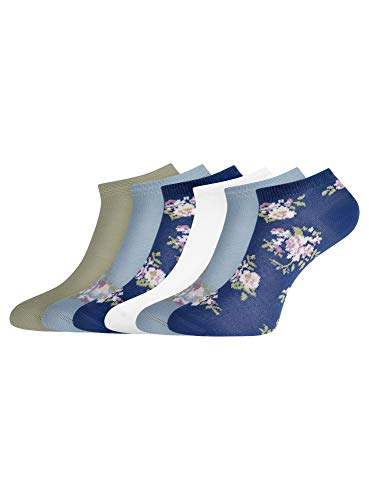 oodji Ultra Femme Socquettes (Lot de 6), Multicolore, FR 38-40 / M