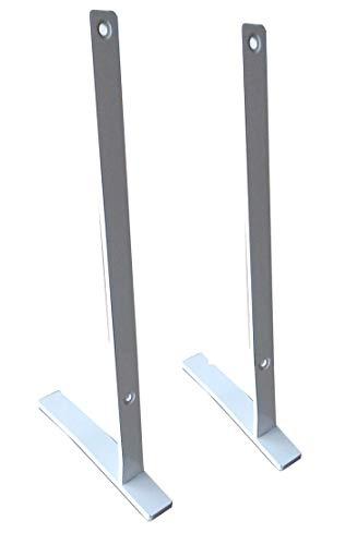 insidehome | Standbügel - Standfüsse für Infrarotheizung Spiegel/Glas Classic S rahmenlos | Hochformat | für 200 Watt