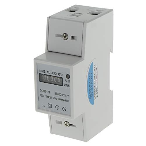B Blesiya Stromzähler Elektrozähler Strom zähler Wattmeter Digitale kWh Meter - 1 Phase 2 Wire 10(40) A 140cm