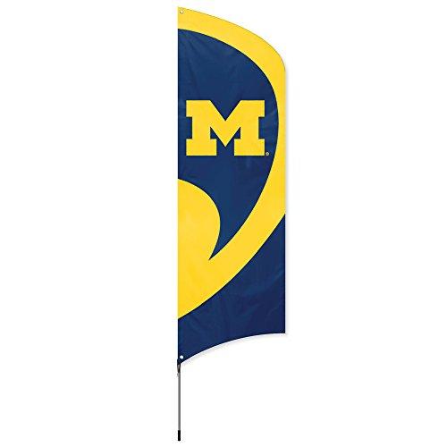 Party Animal geschlossen, offizielles Lizenzprodukt NCAA College Flag Set, Michigan Wolverines Big Ten Flags