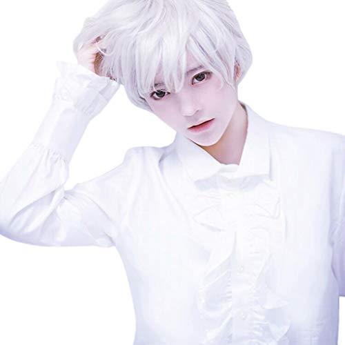Promi Kostüm Männlich - Mypace Blond Lang Glatt Für Männer Damen Adult Men Guy Wig Short Boy Band Wig White Short Perfect For Carnivals Party