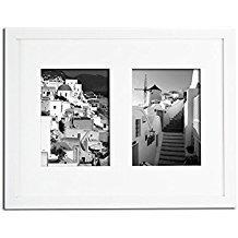 Golden State Art 11x 14Foto Holz Collage Rahmen mit Echtem Glas und Weiße Matte Zeigt (2) 5x 7Bilder 5x7 Weiß (11 Foto-collage-rahmen)