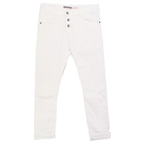 Please, Slim, Damen Jeans Hose, Twill Stretch, white, XS Inch ca. 28 L 32 [19587] (Jeans Twill Hose)