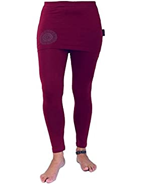 GURU-SHOP, Pantalones de Yoga Bio-BW Yogui, Algodón, Los Pantalones Cortos y 3/4 Pantalones, Polainas