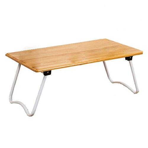 Table pliante LXF Simple Table en matériau Bambou Bureau d'ordinateur Chaise Longue Bureau en dortoir Pas Besoin d'installer des Pieds en W Solides et durables (Taille : 80×40×27cm)