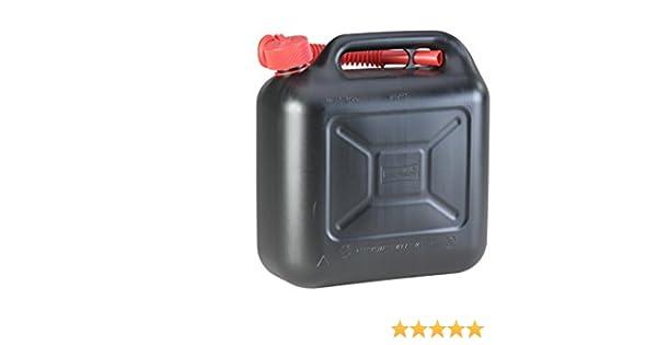 H/ÜNERSDORFF 812800 Kanister Benzinkanister Reservekanister 10 L Schwarz