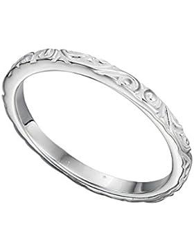 TF feiner Vorsteckring mit Ornamentic, Sterling-Silber 925