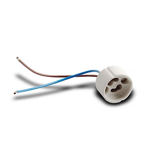 Attacco per Lampadine alogene GU10 VDE ad alto voltaggio, in ceramica, 190-230 V, 10 pz