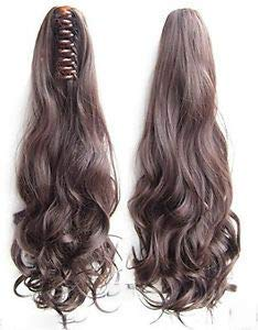 Synthetic Wavy-Curly Ponytail with Clip Hair Extension Wig (Brown) (Long) for Women