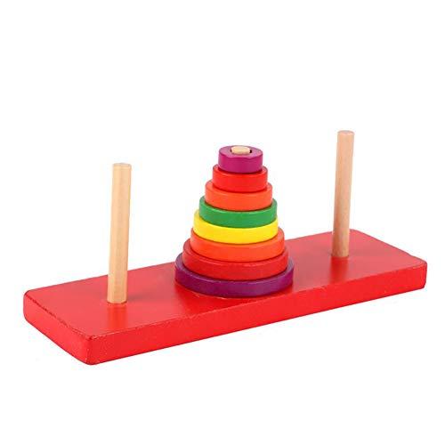 Baby Lernspielzeug Regenbogen-Jenga Blöcke Kinderspielzeug für Color Cognition 1 Stück
