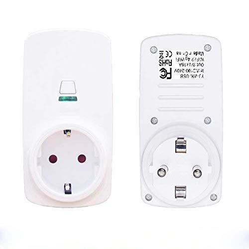 SHUAISHUAI Smart Wi-Fi App Fernbedienung Energiemonitor Timer Home Power Automation-Buchse Für iPhone Und Android-Geräte Kein Hub Erforderlich,White -