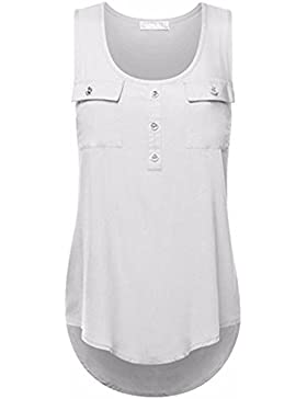 Fossen Casual Camisetas Sin Mangas Para Mujer Blusas Camisa de Dobladillo Irregular