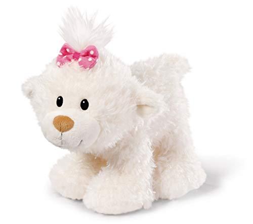 Nici 43348 Kuscheltier kleine Bären-Schwester stehend, 25 cm, weiß