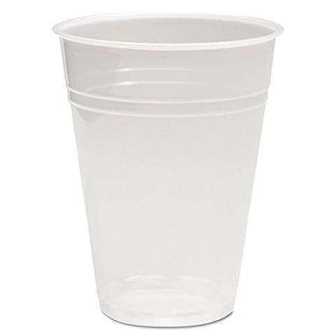 Boardwalk TRANSCUP10CT Translucent Plastic Cold Cups, 10oz (Case of 1000)