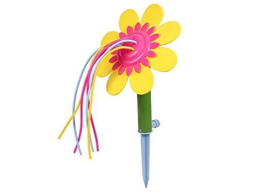 Fun Play Rasensprenger Gartensprenger für kleine Flächen Sprinkler als Sonnenblume 37 cm Wassersprinkler Gartenblume mit 6 Wasserfontänen von Alsino 9254