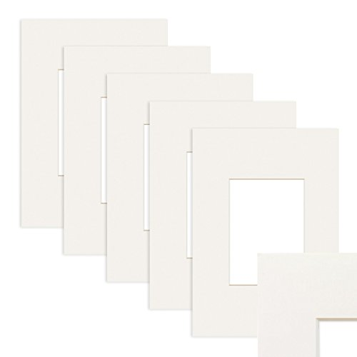 PHOTOLINI 5X Passepartout Weiß 20x30 cm (13x18 cm)