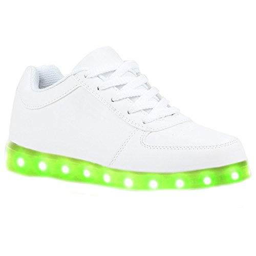 [Present:kleines Handtuch]JUNGLEST® Blinkende Damen Sneakers Led Light Far Weiß