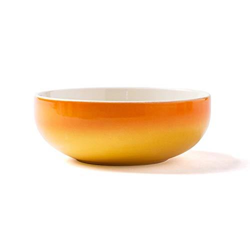 RKY Bol- Bol en céramique créatif maison bol à fruits bol à salade grand bol bol de nouilles instantanées bol de riz vaisselle - 4 couleurs /-/ (Couleur : Jaune)