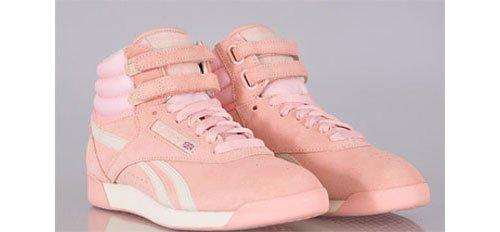 Reebok F/S Hi Da Donna Classico Rosa Pastello/bianco/argento/puro Hi Top Trainers, donna, Freestyle Hi Pastel, Pink, 7.5 UK