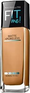 Maybelline Fit Me Matte Plus Poreless Foundation - Warm Honey (Pack of 2)
