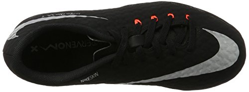 Nike Hypervenomx Phinish Ii Tf, Chaussures de Football Mixte Enfant Noir (Black/metallic Silver-black-anthracite)