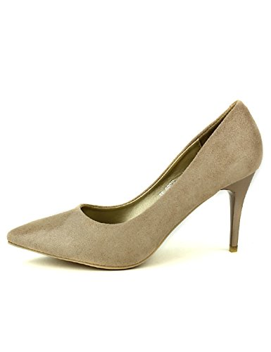 Cendriyon, Escarpin Color Taupe EXQUILY Chaussures Femme