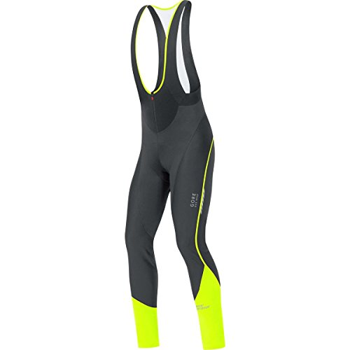 GORE BIKE WEAR  HOMBRE  CICLISMO  CULOTE LARGO CON TIRANTES+ OXYGEN WINDSTOPPER SOFT SHELL  COLOR NEGRO/AMARILLO  TALLA L  WWOXMP