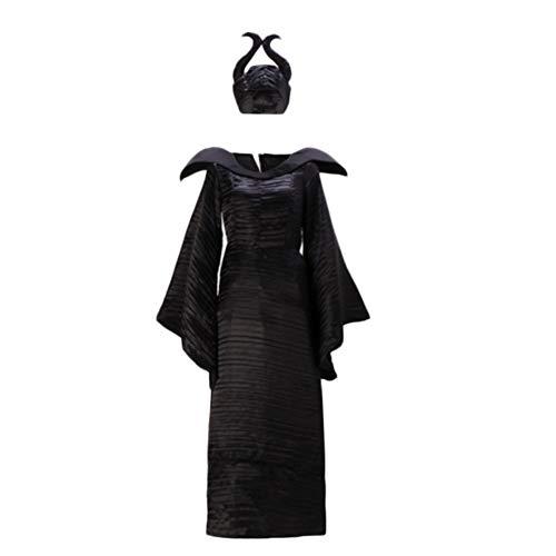 Costyle Maleficent Cosplay Dress Black Witch Costume Marlene Fiesen Dress