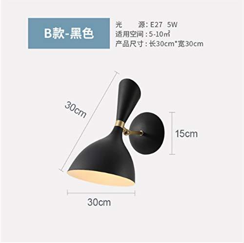 Industrielle Wandleuchte Schwarz Nachttischlampe Loft Bett Badezimmerspiegel Licht -